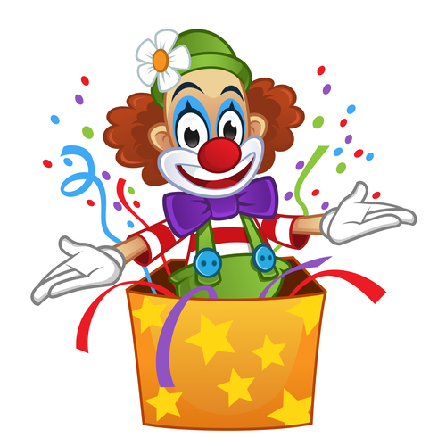 Festival cheerful clown illustration vector 04
