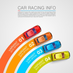 Car racing infographic vector template 03