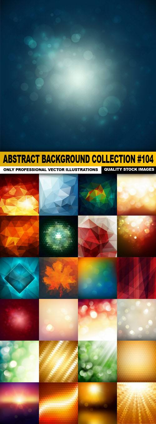 Abstract Background Collection #104 – 25 Vector