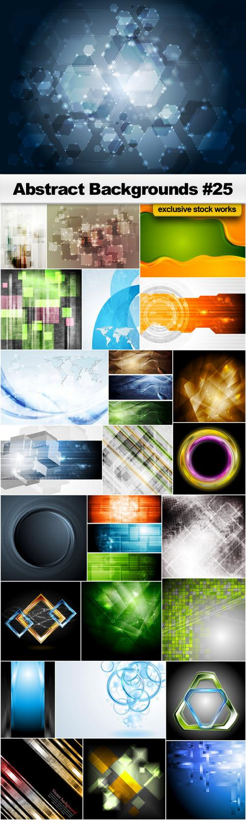 Abstract Backgrounds #25 – 25 EPS