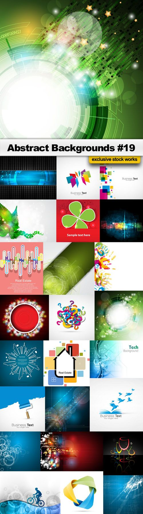 Abstract Backgrounds #19 – 25x EPS, AI