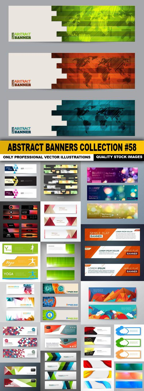 Abstract Banners Collection #58