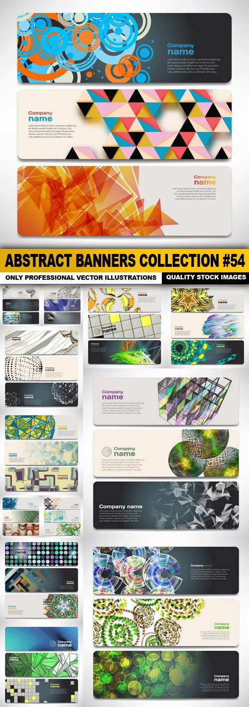 Abstract Banners Collection #54 – 18 Vectors