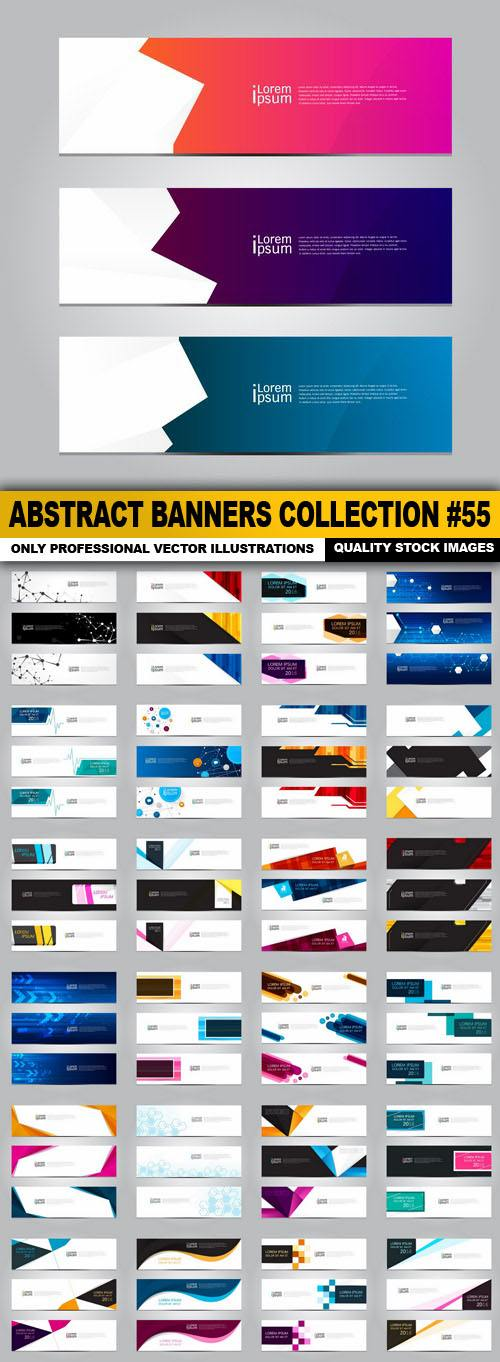Abstract Banners Collection #55 – 25 Vectors