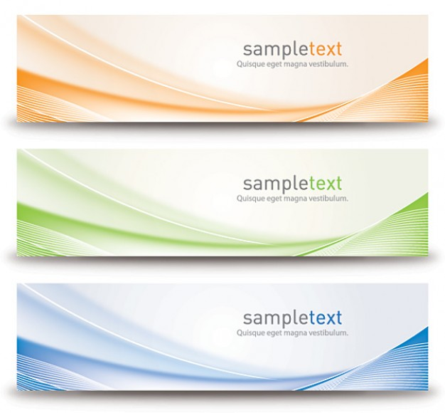 abstract banners design  Vector | Free Download
