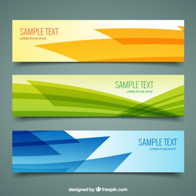 Abstract banners pack  Vector | Free Download