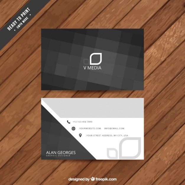 Abstract black business card  Vector | Free Download