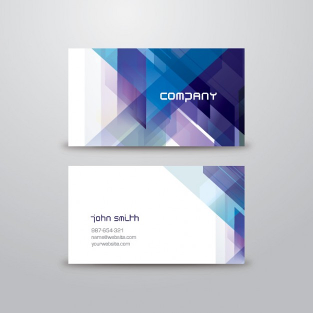 Abstract business card template  Vector | Free Download