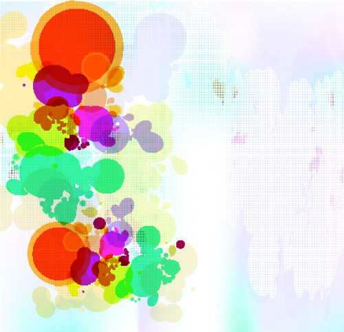 abstract Colorful spots vector background 01