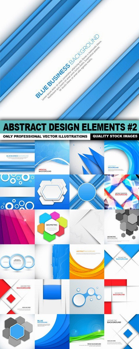 Abstract Design Elements #2 – 25 Vector