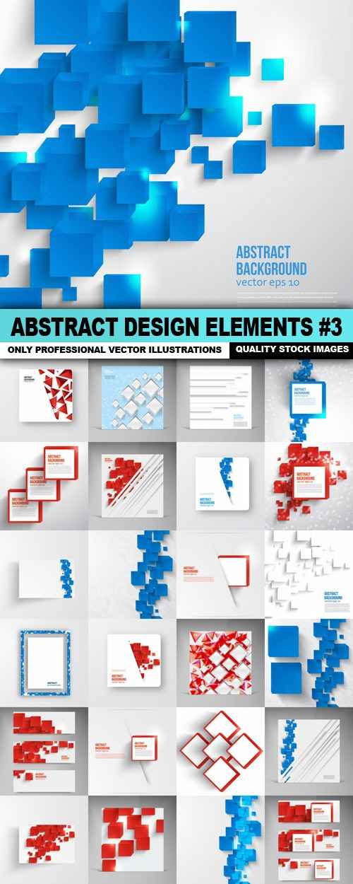 Abstract Design Elements #3 – 25 Vector
