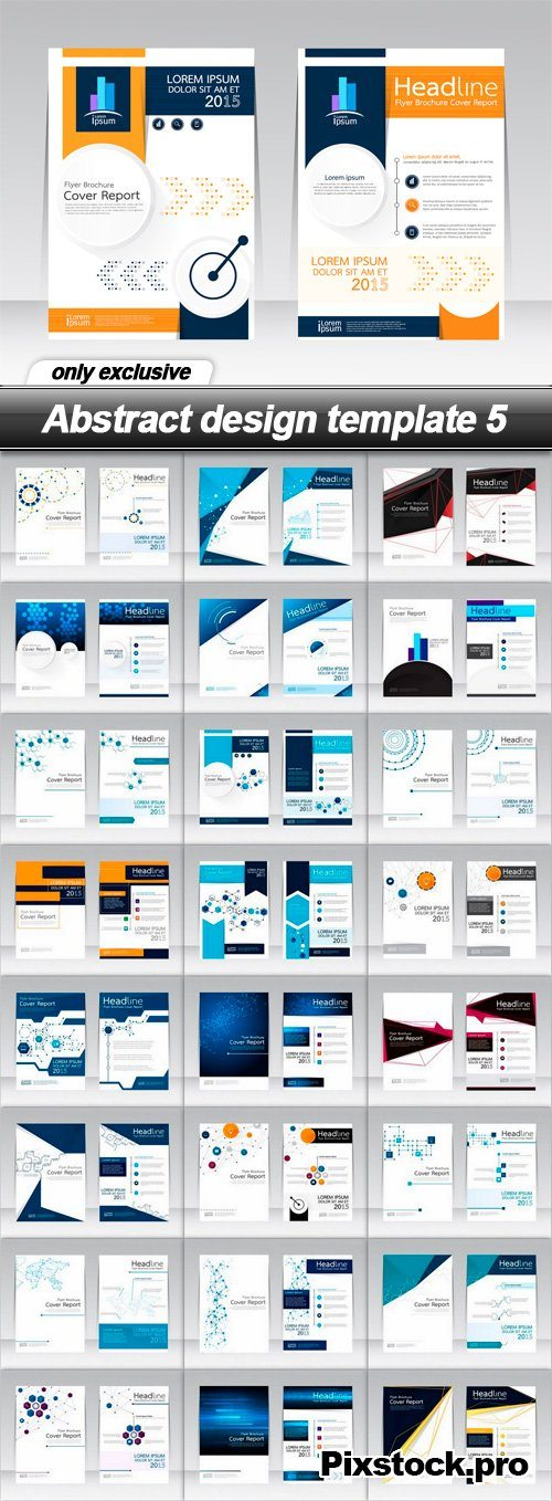 Abstract design template 5 – 25 EPS