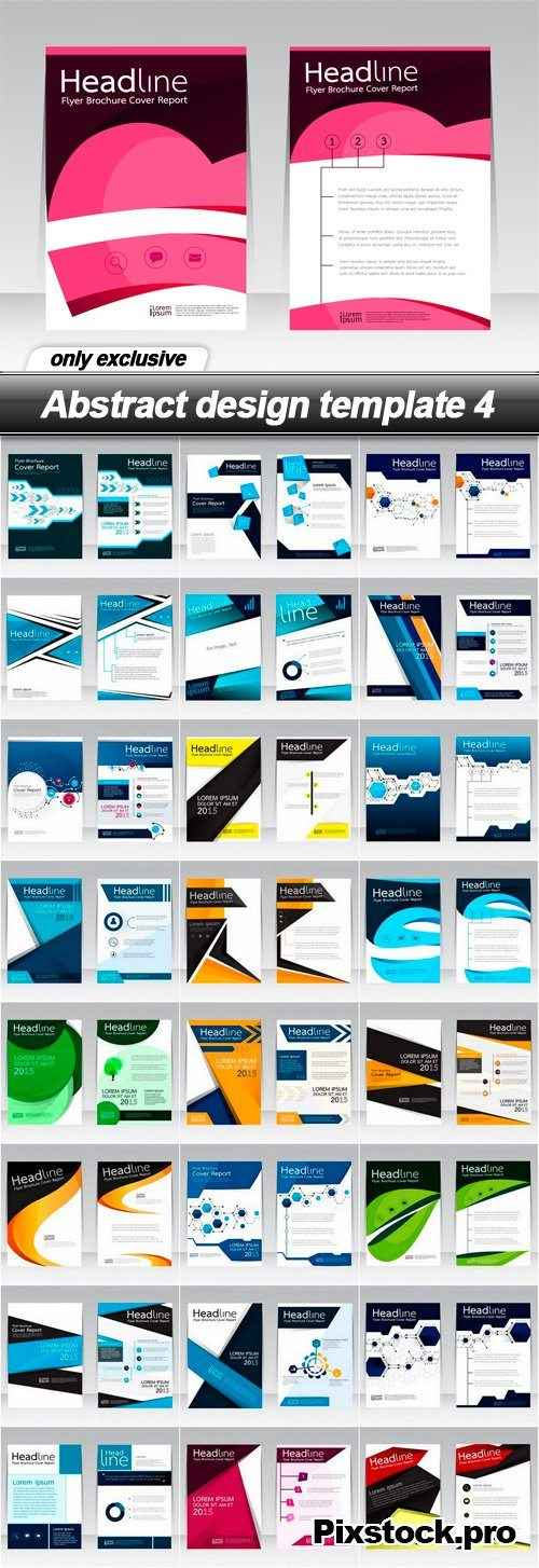Abstract design template 4 – 25 EPS