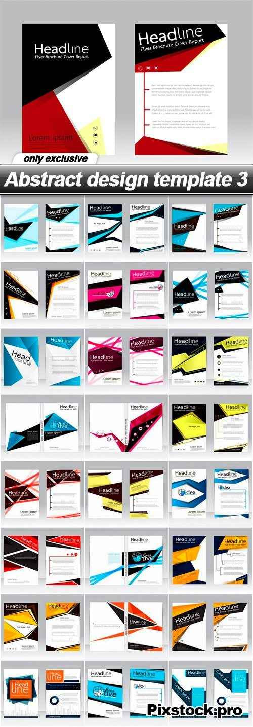 Abstract design template 3 – 25 EPS