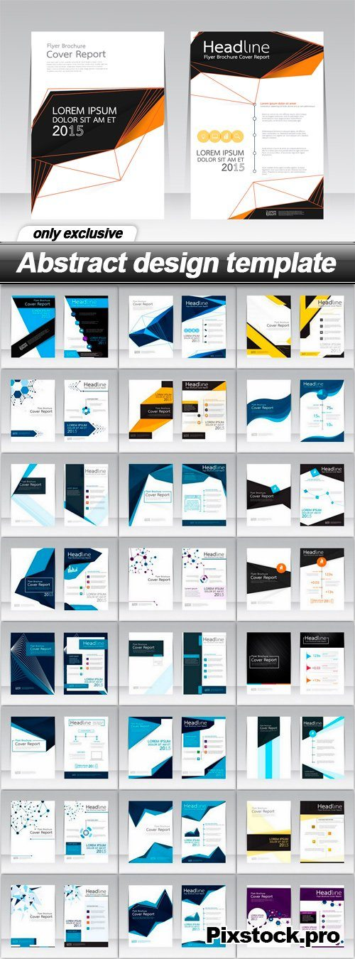 Abstract design template – 25 EPS