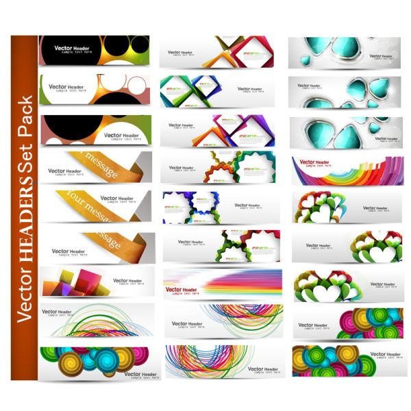 Abstract Fashion vector banner 01