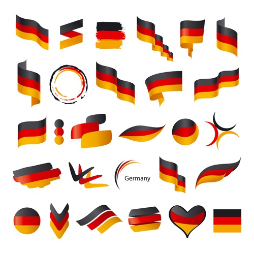 Abstract flags Icons set vector 02