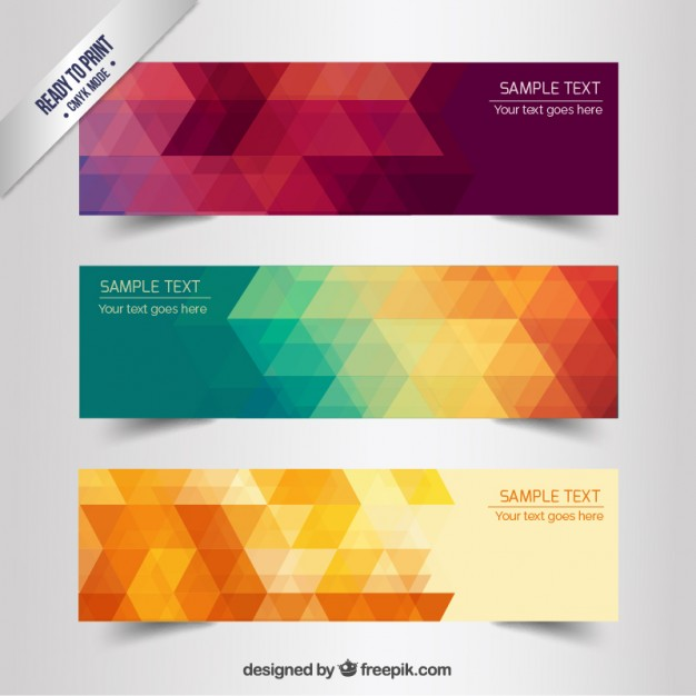 Abstract geometric banners  Vector | Free Download