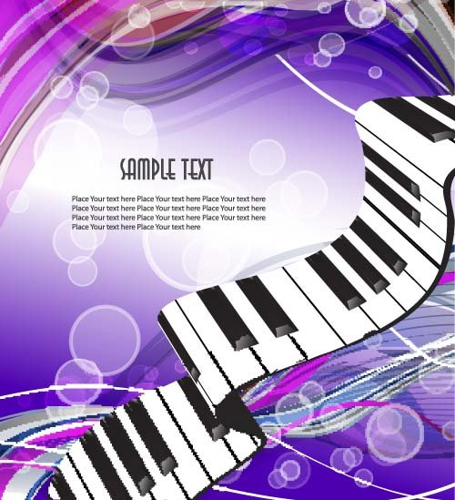 Abstract music art background vectors 05