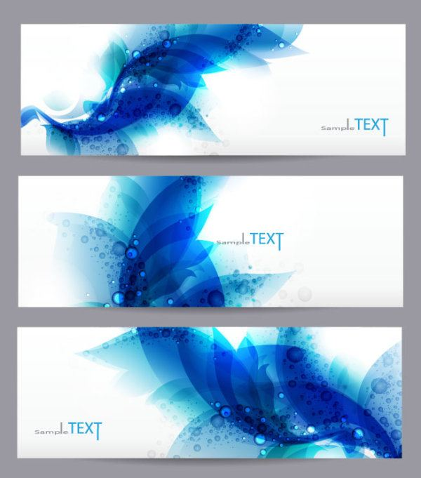 Abstract Stylish vector banner 05
