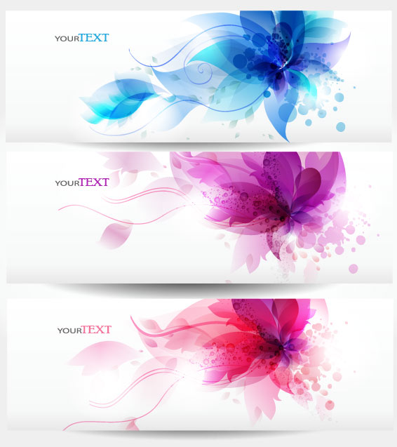 Abstract Stylish vector banner 02