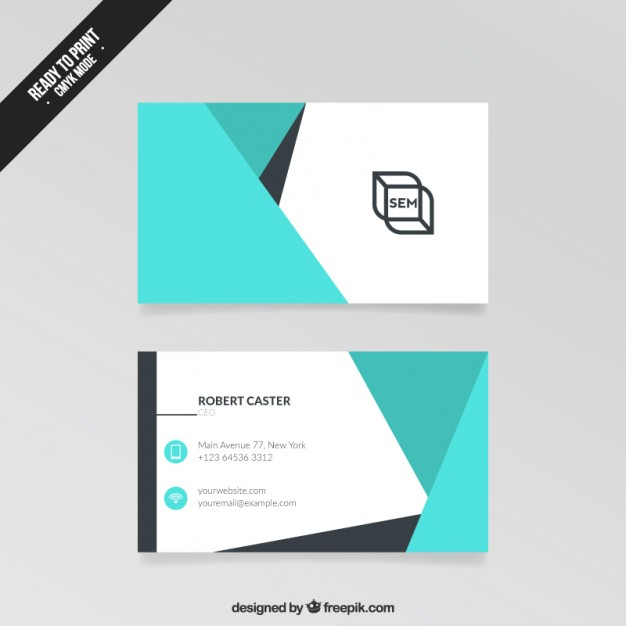 Abstract Visit Card  Vector | Free Download