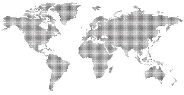 Abstract World Map  Vector | Free Download