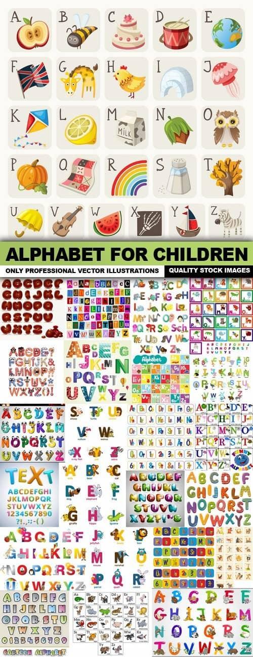 Alphabet For Children – 25 Vector