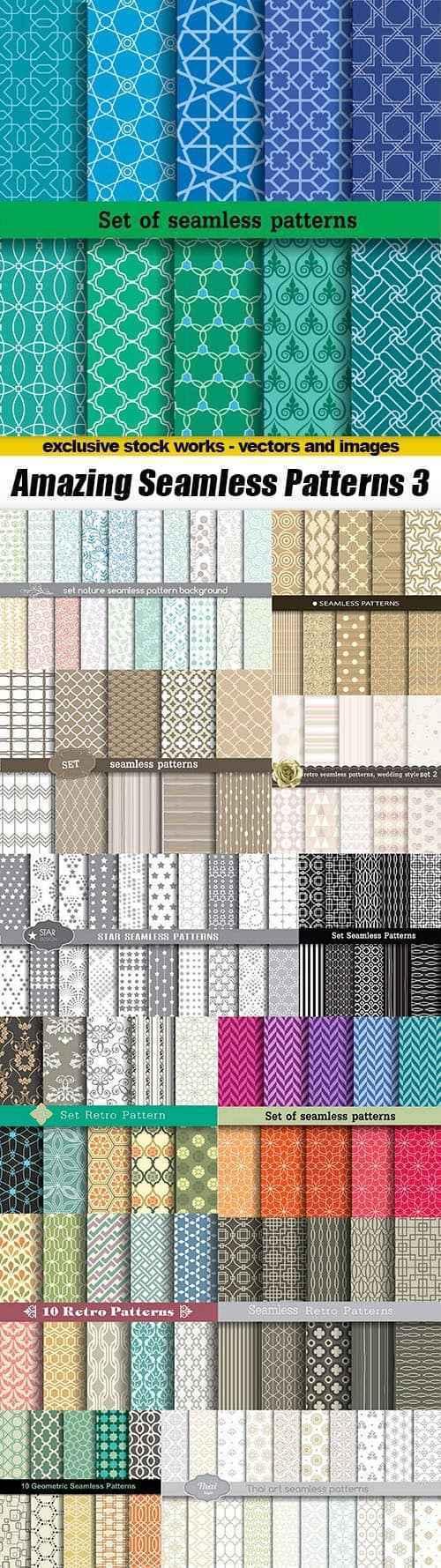 Amazing Seamless Patterns 3 – 13xEPS