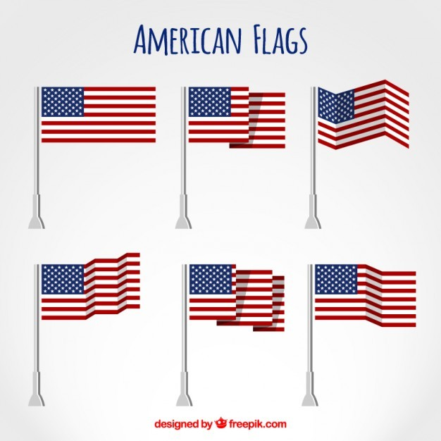 American Flags Flat Set