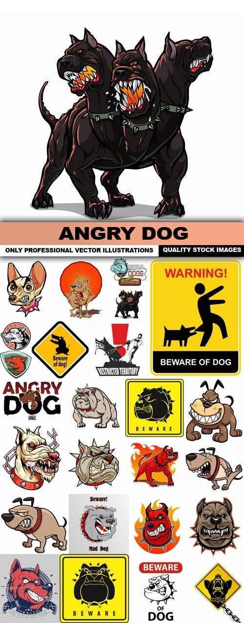 Angry Dog – 25 Vector