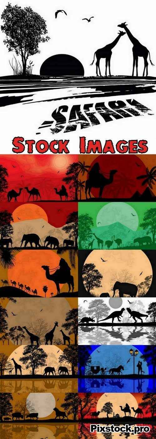 Animal Silhouette in Africa – 13 Eps