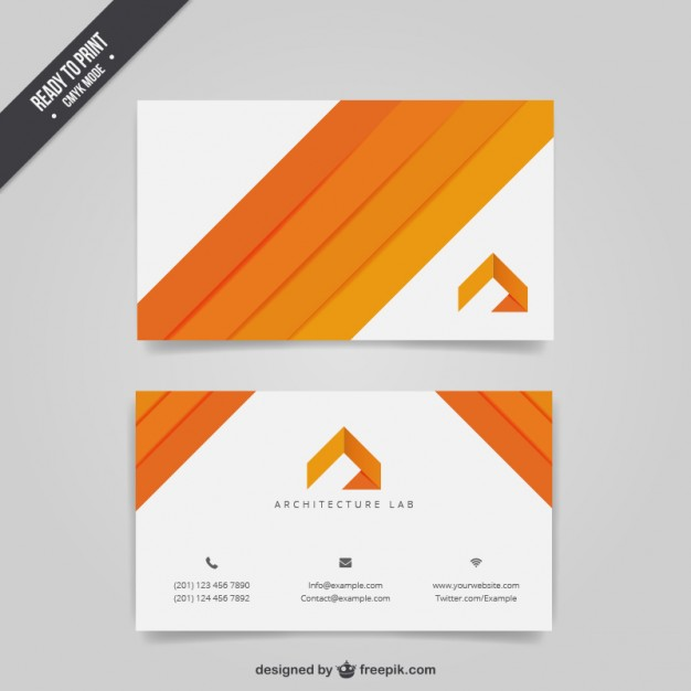 Architecture business card  Vector | Free Download
