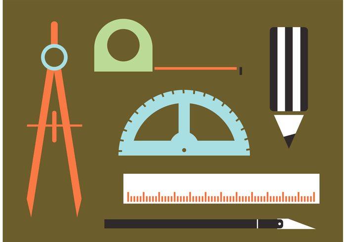 Architecture Tools Vectors