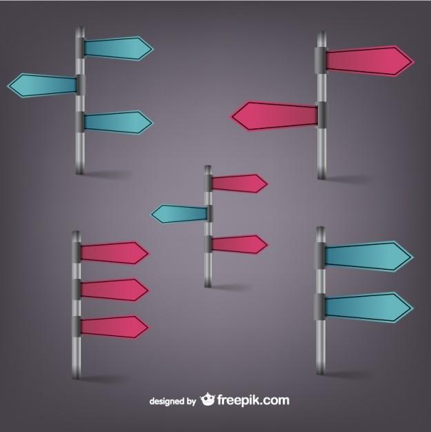 Arrow pole signs vector   Vector | Free Download