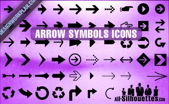 Arrow Symbols Icons – All-Silhouettes
