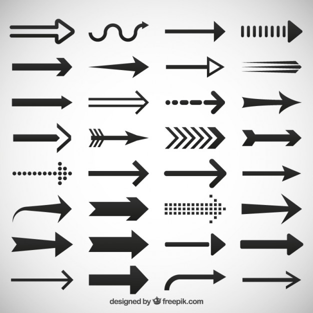 Arrows icons set  Vector | Free Download