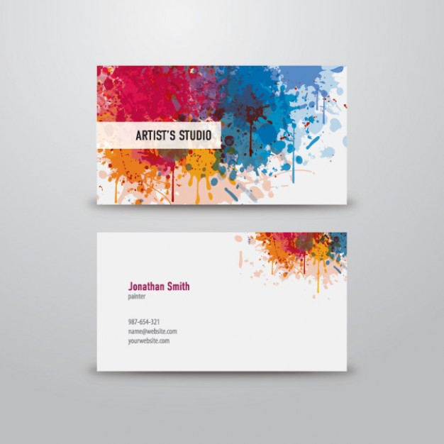 artist business card  Vector | Free Download