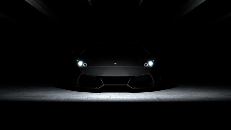 Aventador in Dark HD Wallpaper