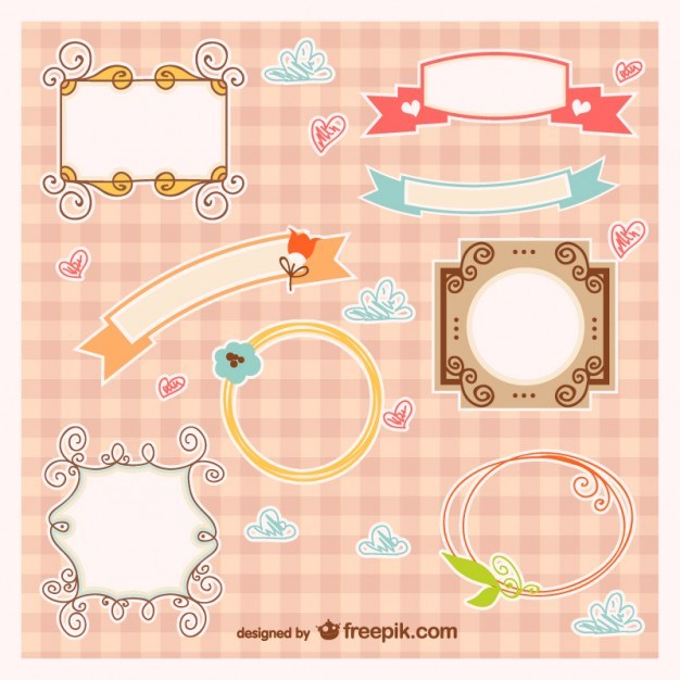 Baby frames and banners vector   Vector | Free Download