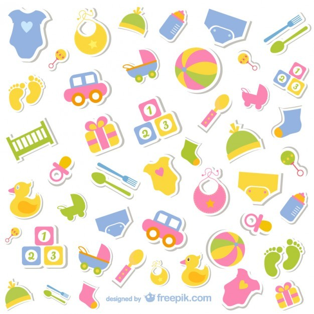 Baby icons free collection  Vector | Free Download