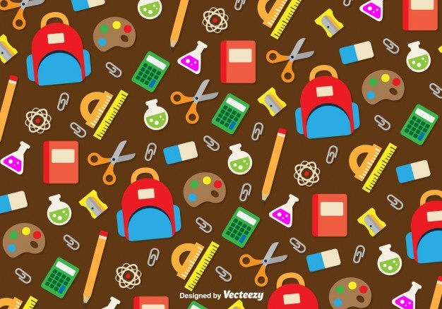Back to school seamless background pattern