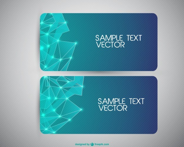 Background banners set  Vector | Free Download