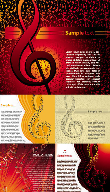 Background music style vector