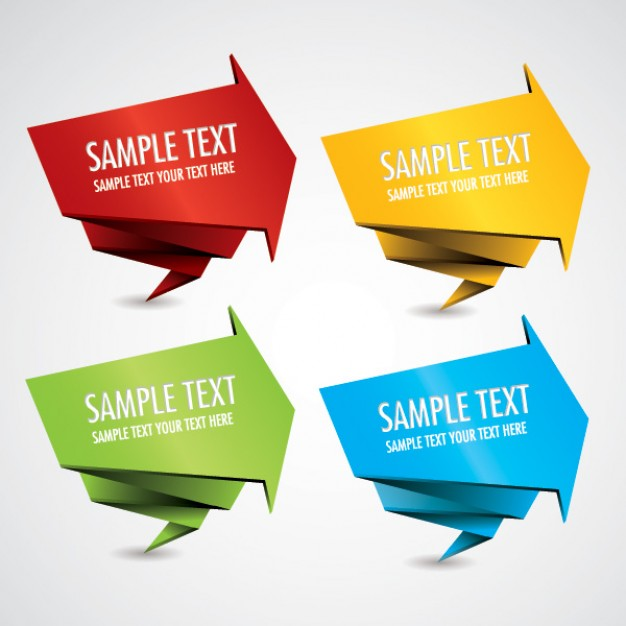 Banner Vector Origami style  Vector | Free Download