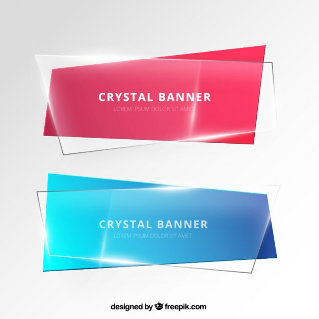 Banners in crystal style