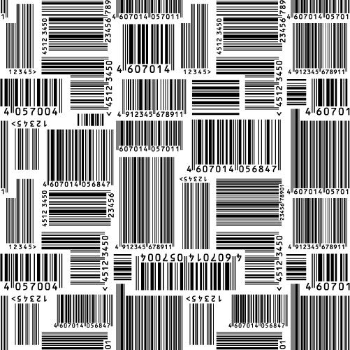 Barcode design Elements vector set 05