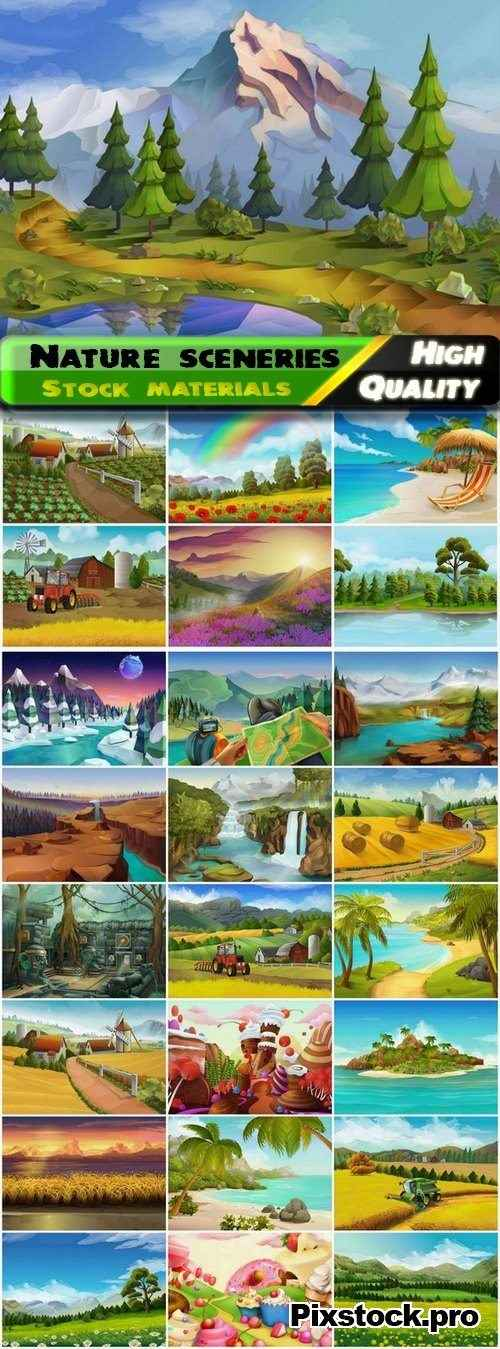 Beautiful nature sceneries and landscapes – 25 Eps