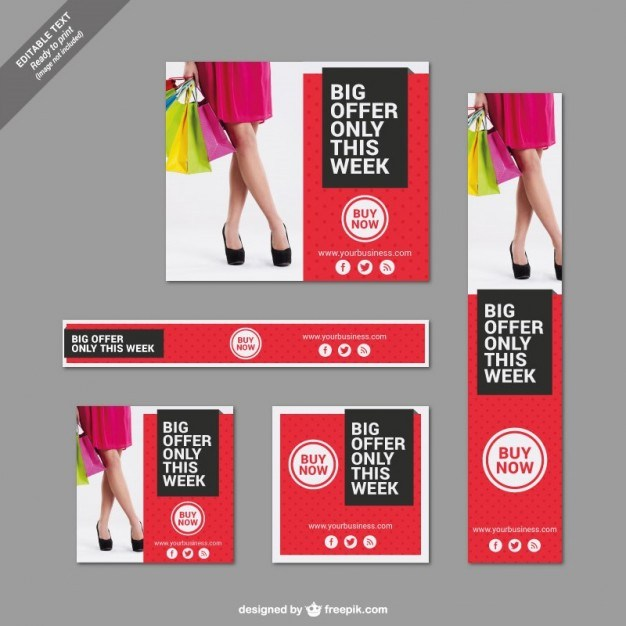 Big offer banners set  Vector | Free Download
