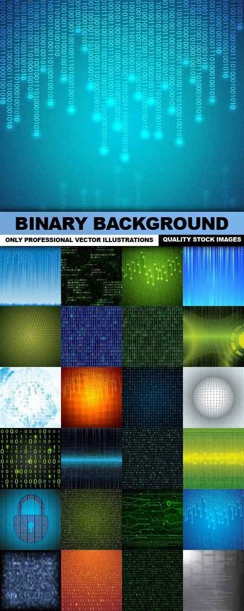 Binary Background – 25 Vector